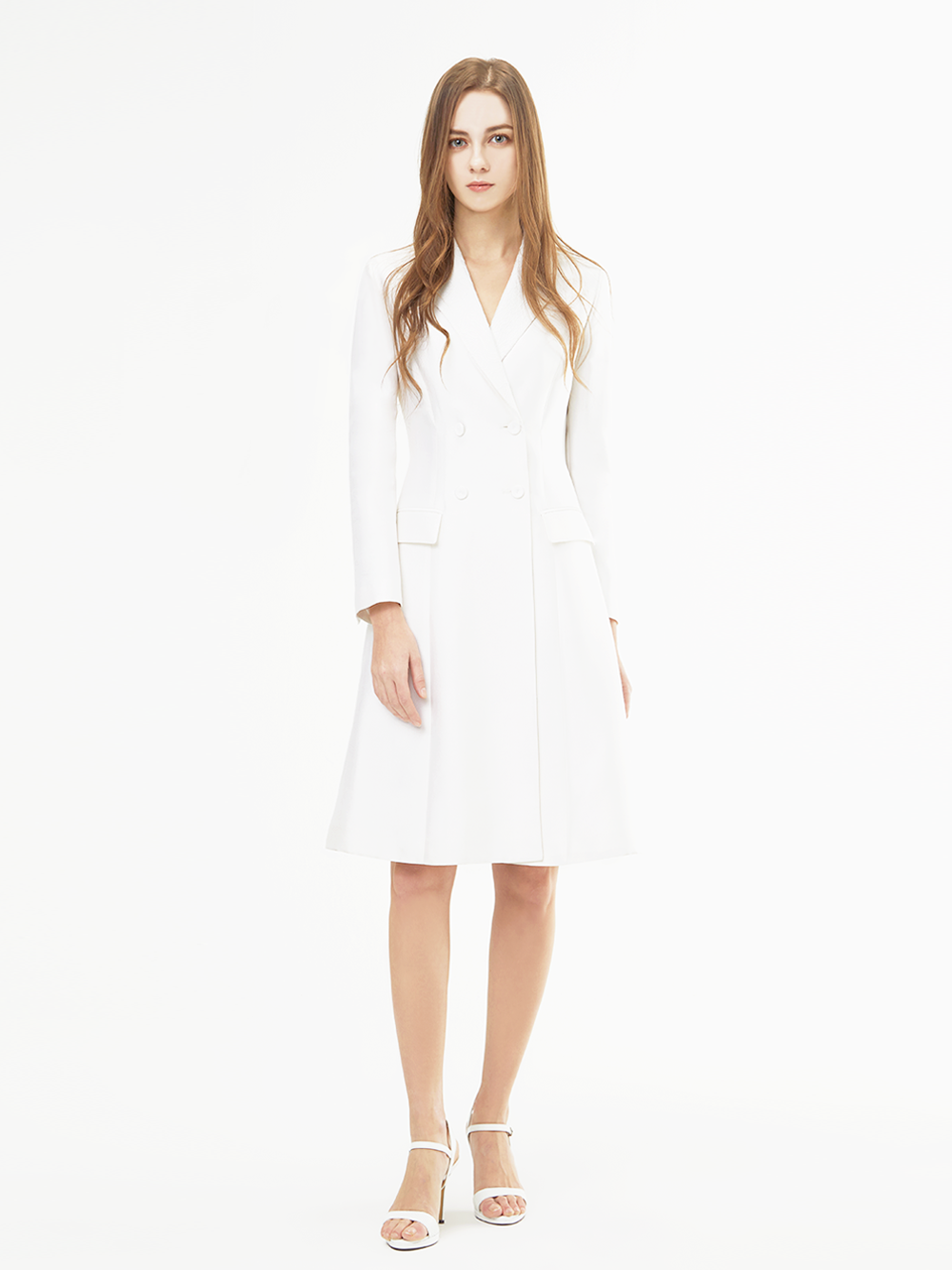 White Double Jacket Dress