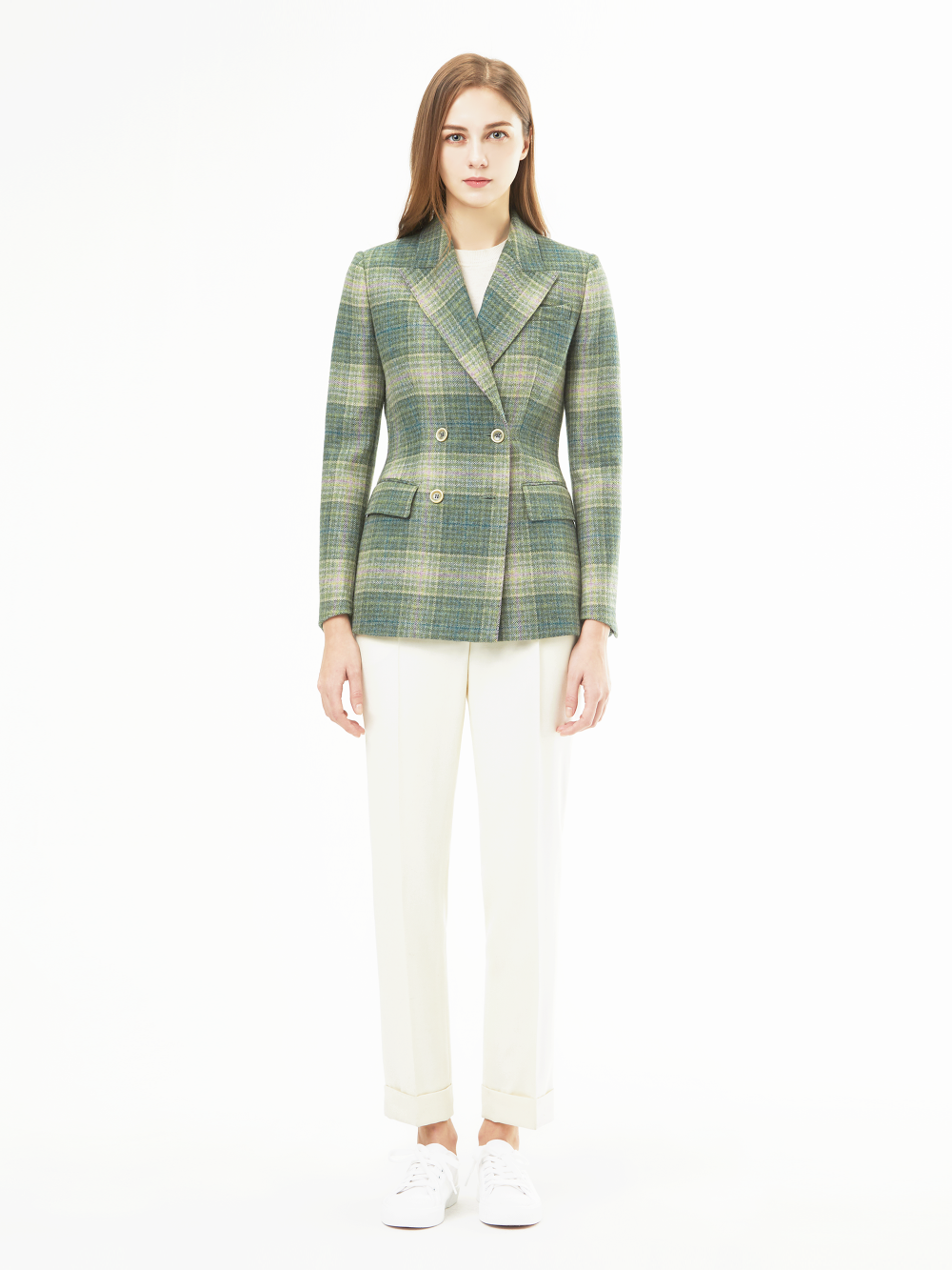 Marton Mills Tweed Check Jacket (그린)